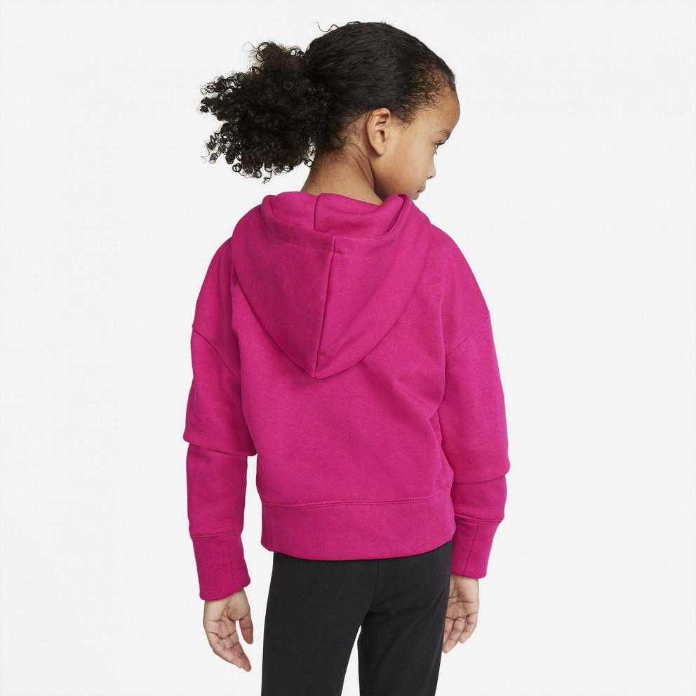 Nike Sportswear Crop Παιδική Μπλούζα Με Κουκούλα