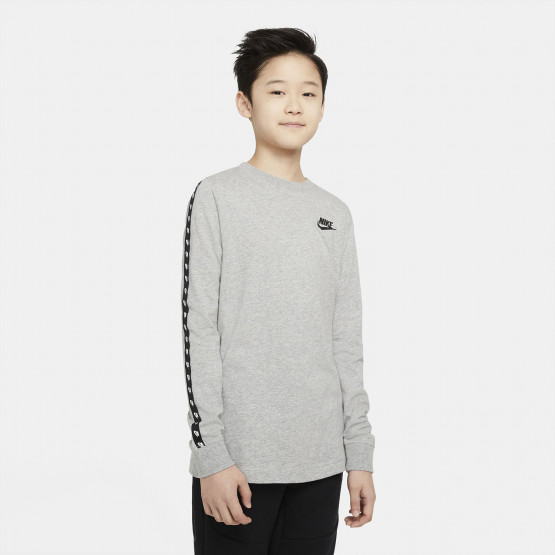 Nike Sportswear Lifestyle Taping Kids' Long Sleeved T-shirt