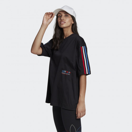adidas Originals Adicolor Tricolor Oversized Γυναικείο T-Shirt