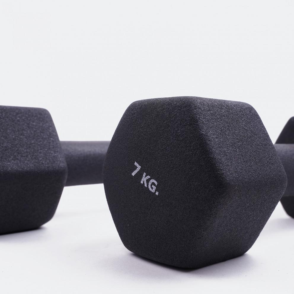 ZEUS Neoprene Dumbbell Weights 2 x 7kg