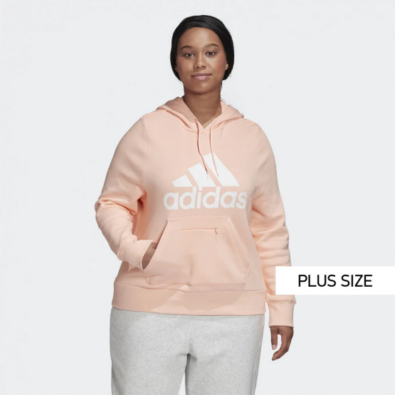 adidas Performance Badge of Sport Plus Size Γυναικεία Μπλούζα με Κουκούλα