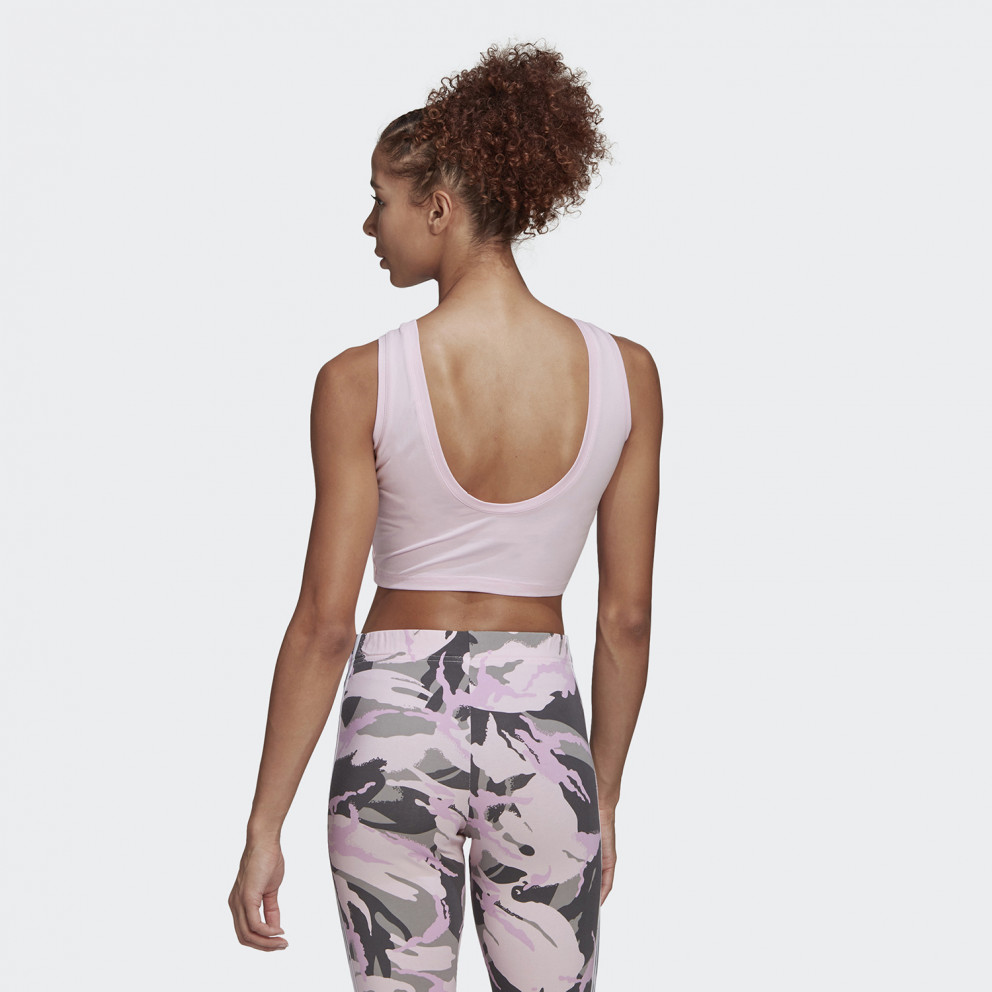 adidas Essentials Camouflage 3-Stripes Women's Cropped Tank Top