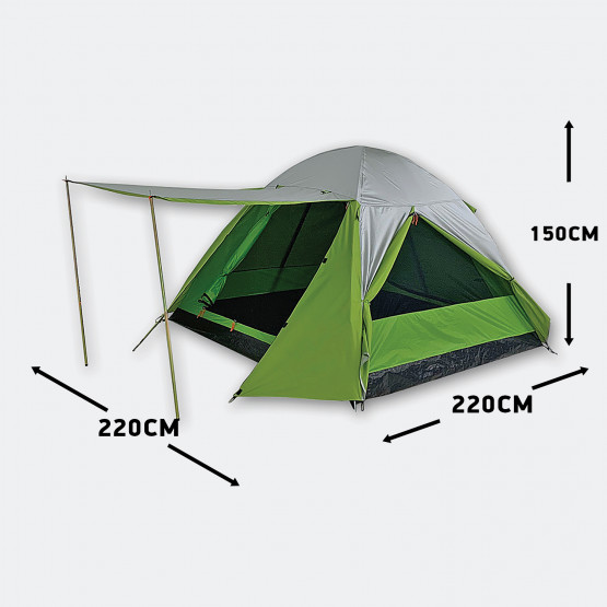 Camping Plus by TERRA Σκηνή Neptune 3P,3At.Διπλοπα 3 Ατόμων