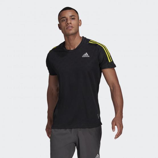 adidas Own The Run Tee 3-Stripes Running Ανδρικό T-shirt
