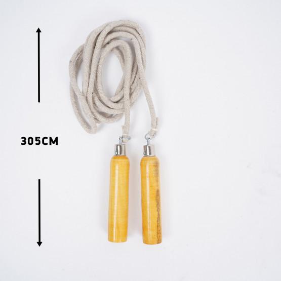 ZEUS Wood Exercise Rope 305cm