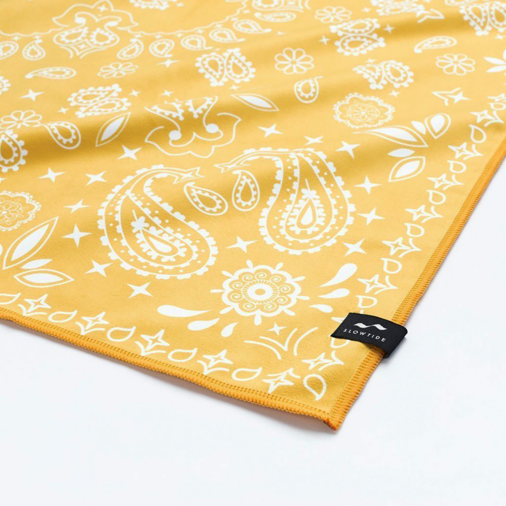 Slowtide Paisley Park Yellow Travel Towel 152 X 076 Cm