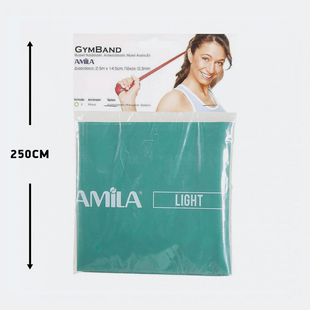 Amila Λάστιχο Gymband, Light 250 X 15 X 0,03 Cm