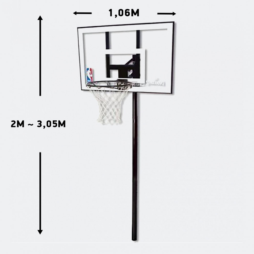Spalding 44'' (1,06 M) Silver In-Ground