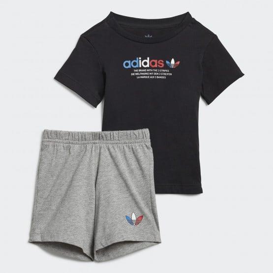 adidas Originals Adicolor Tricolor Short And Tee Βρεφικό Σετ