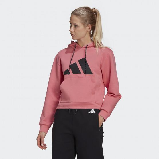 adidas Performance Sportswear Relaxed Doubleknit Γυναικεία Μπλούζα με Κουκούλα