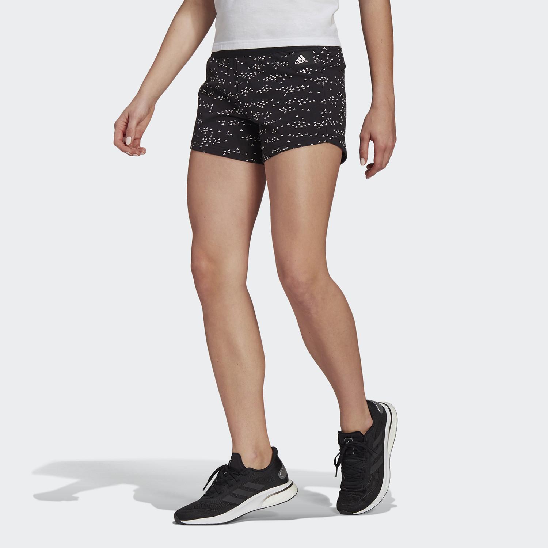 Γυναικείο Adidas Sportswear Badge Of Sport Allover-Printed Shorts (9000068388_1480)