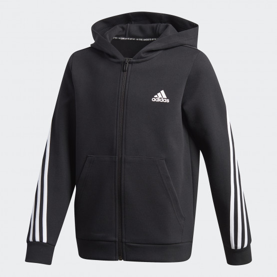 adidas Performance 3-Stripes Doubleknit Kid's Full-Zip Hoodie