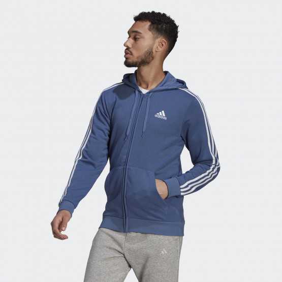 adidas Performance Essentials 3-Stripes Men's  Full Zip Hoodie