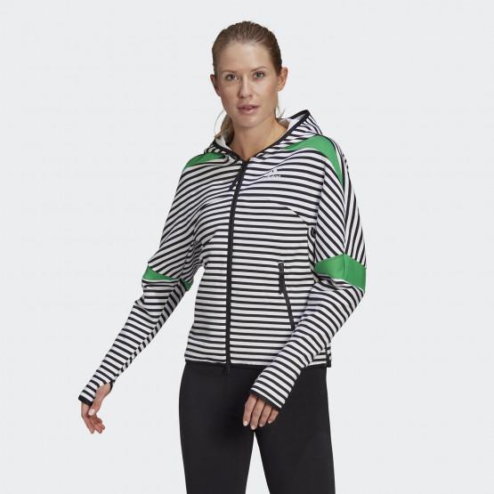 adidas Performance ZNE Stripe Allover-Print Women's Zip Hoodie