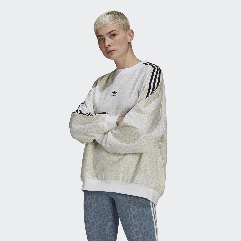 adidas Originals Crew Animal Print Γυναικείο Φούτερ (9000074421_51734)