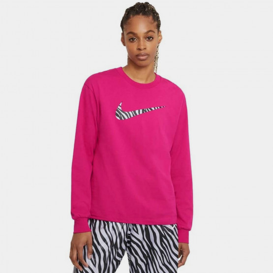Nike Sportswear Icon Clash Crimson Bliss Γυναικεία Μπλούζα με Μακρύ Μανίκι
