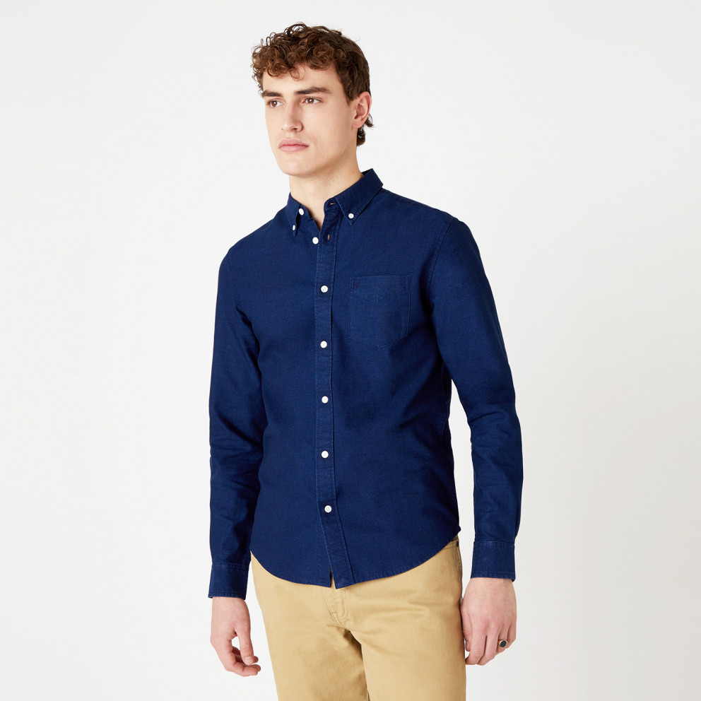 Wrangler One Pocket Shirt Existing In Indigo Men's Shirt