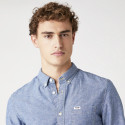 Wrangler One Pocket Button Down Shirt In Mid Indigo Ανδρικό Πουκάμισο
