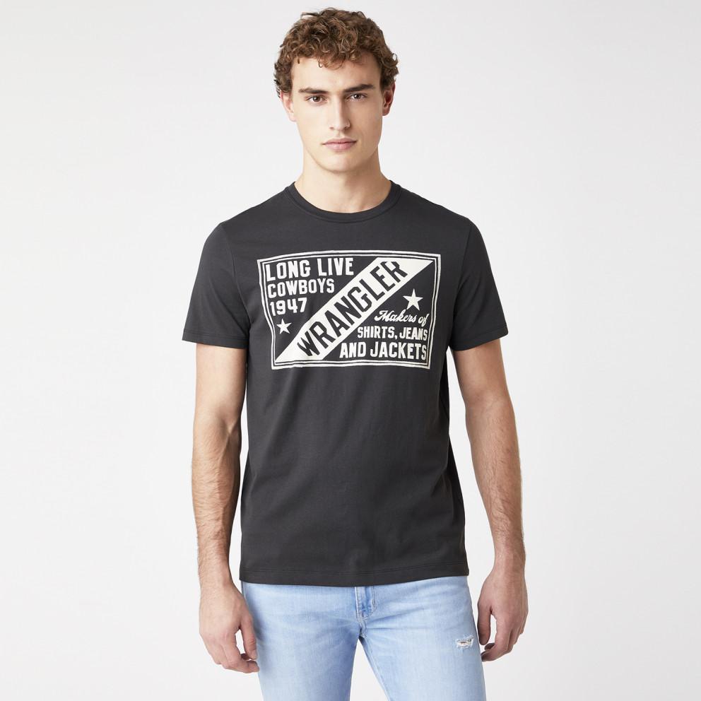 Wrangler Americana Tee In Faded Black Men's T-shirt