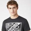Wrangler Americana Tee In Faded Black Ανδρικό T-shirt
