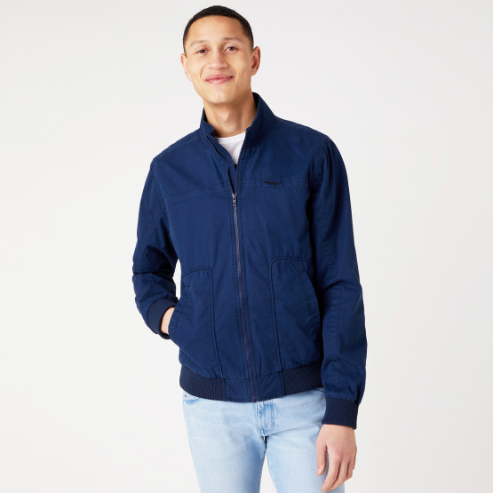 Wrangler The Bomber In Navy Men's Bomber Jacket
