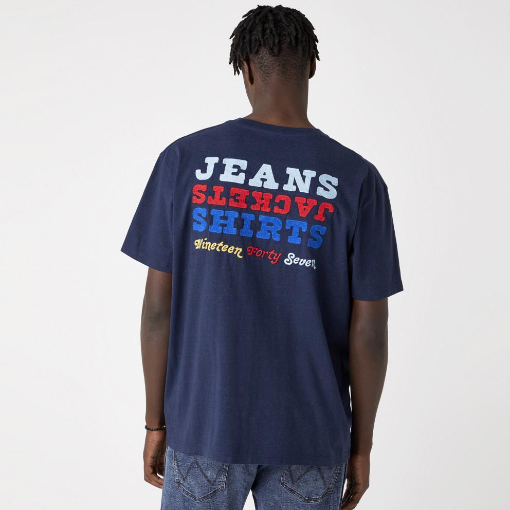 Wrangler Longo Tee In Navy Men's T-shirt