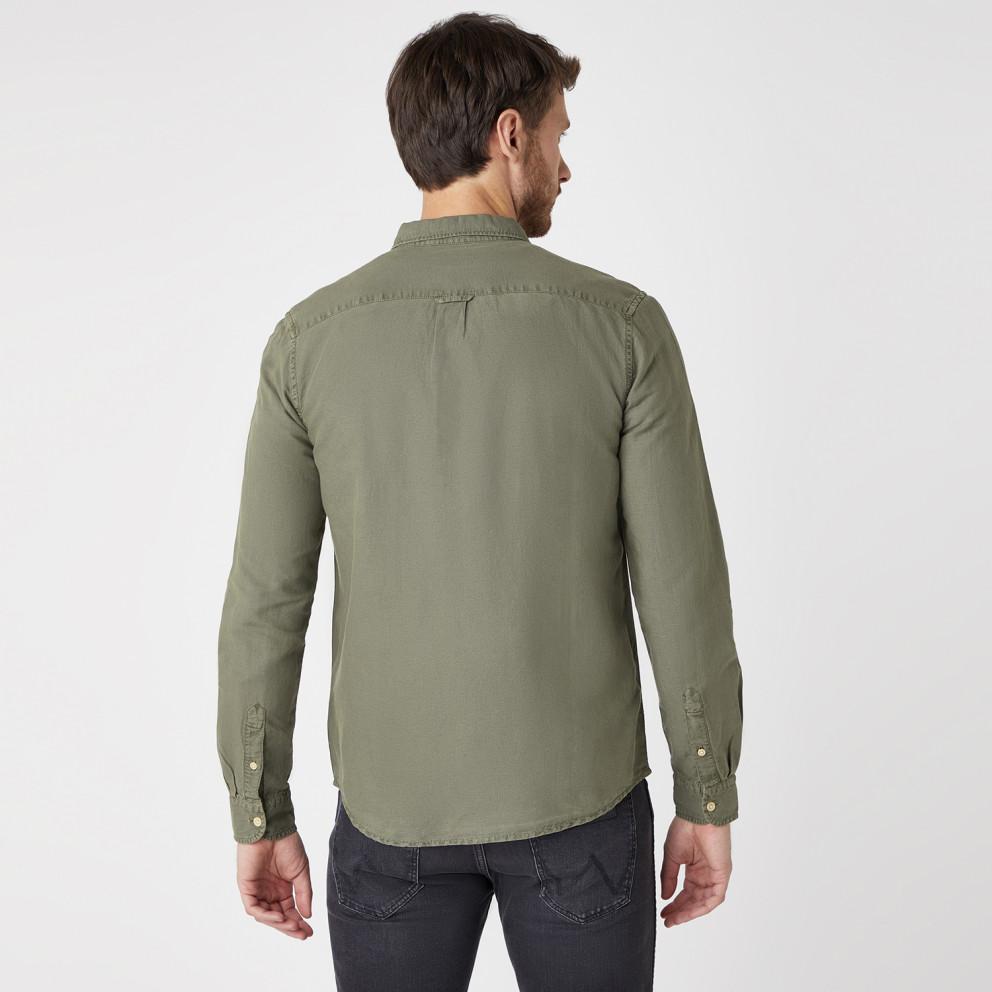 Wrangler Two Pocket Flap Shirt Dusty Olive Men's Shirt