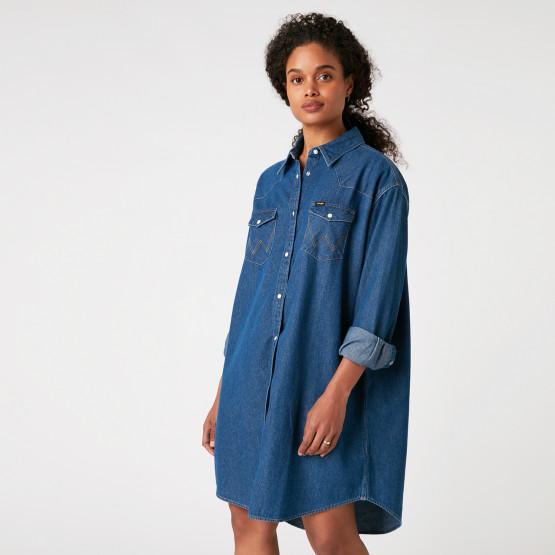Wrangler Denim Western Γυναικείο Φόρεμα