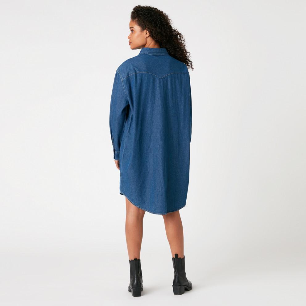 Wrangler Denim Western Dress Mid Indigo