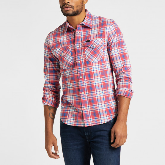 Lee Clean Western Shirt Aurora Red