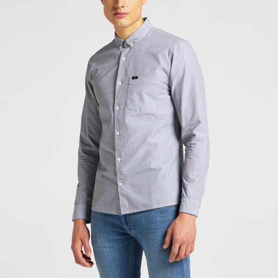Lee Slim Button Down Cloudburst Grey