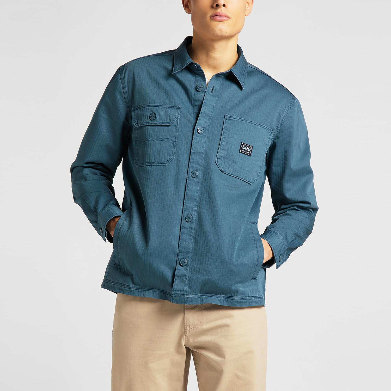 Lee Box Pocket Overshirt Teal Ανδρικό Πουκάμισο (9000075062_4591)