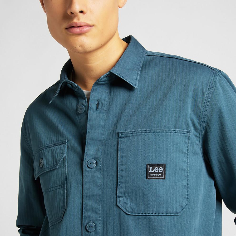 Lee Box Pocket Overshirt Teal