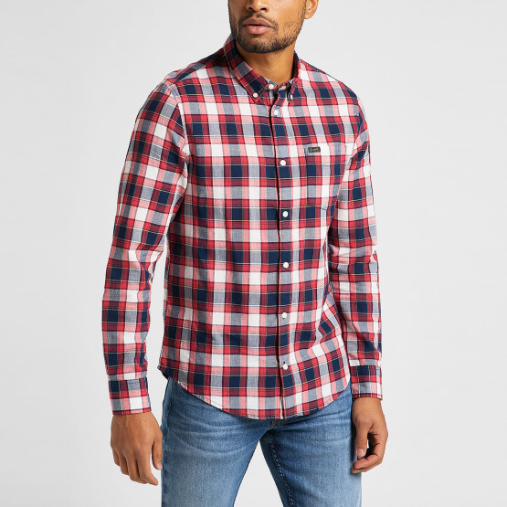 Lee Lee Button Down Aurora Red Men's Shirt