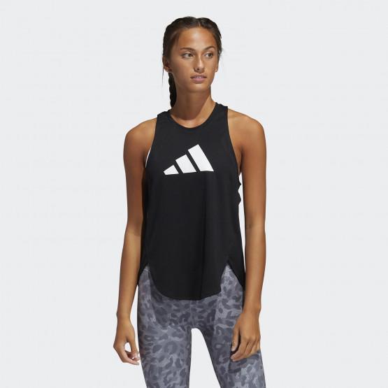 adidas Performance 3 Bar Logo Γυναικεία Αμάνικη Μπλούζα