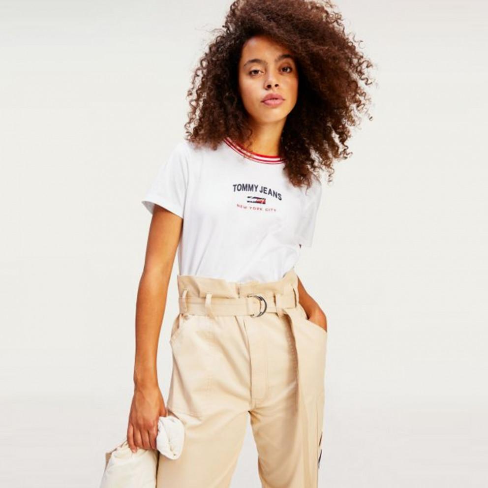Tommy Jeans Paperbag Waist Γυναικείο Cargo Παντελόνι (Μήκος 32L)