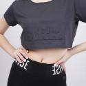 BodyTalk Snapsw Cropped Tshirt   100%Co