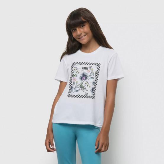Vans Gr Border Floral Gir Παιδικό T-Shirt