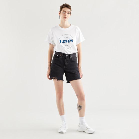 Levis 501 Mid Thigh Short Lunar Blac