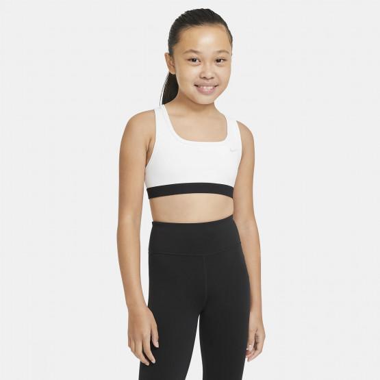 Nike Swoosh Kids' Bra White / Black