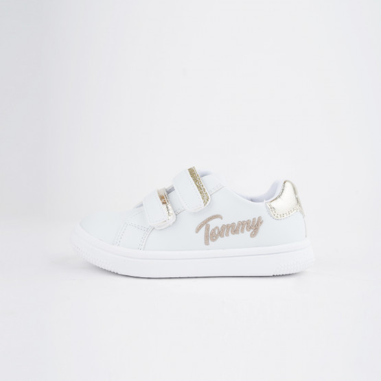 Tommy Jeans Low Cut Velcro Βρεφικά Sneaker