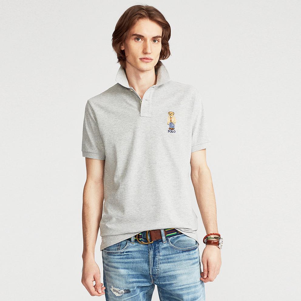 Polo Ralph Lauren Custom Slim Fit Polo Bear Ανδρική Polo Μπλούζα (9000075892_42102)