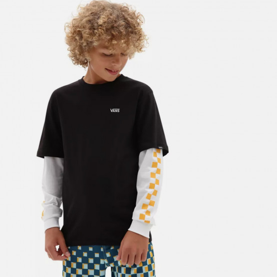 Vans By Long Check Twofer Kids' Sweatshirt