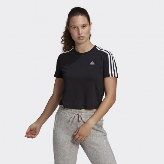 adidas Performance Essentials Loose 3-Stipes Women's Cropped Tee