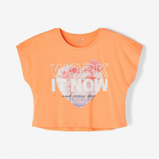 Name it Pinted Crop Παιδικό T-shirt