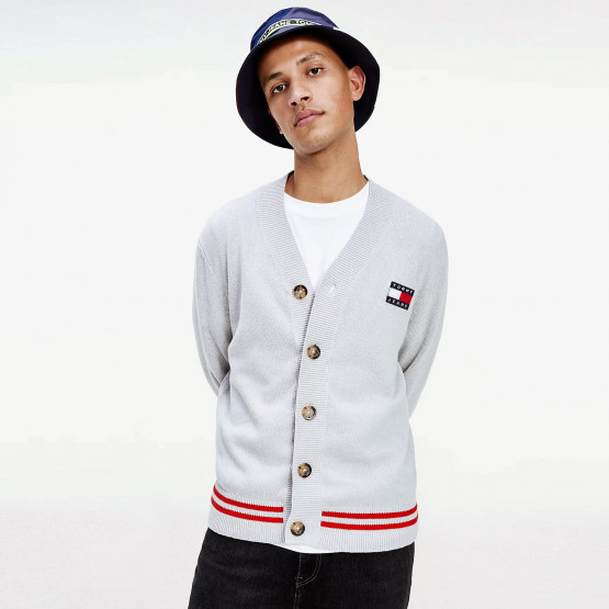 Tommy Jeans V-Neck Badge Men's Cardigan