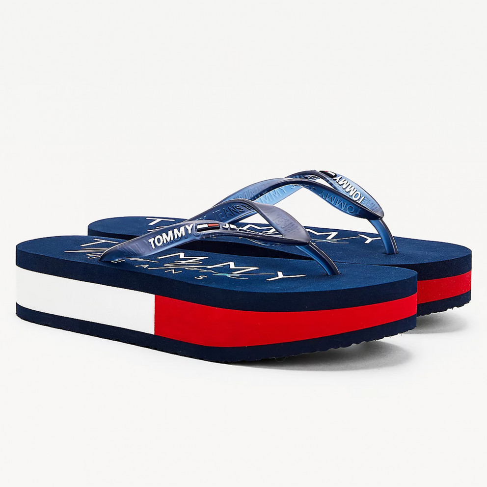 Tommy Jeans Rubber Thong Mid Beach Sandal