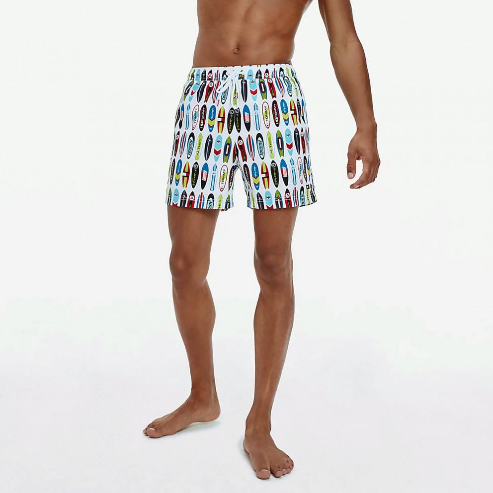 Tommy Jeans Surf Medium Drawstring-Print Men's Swim Shorts