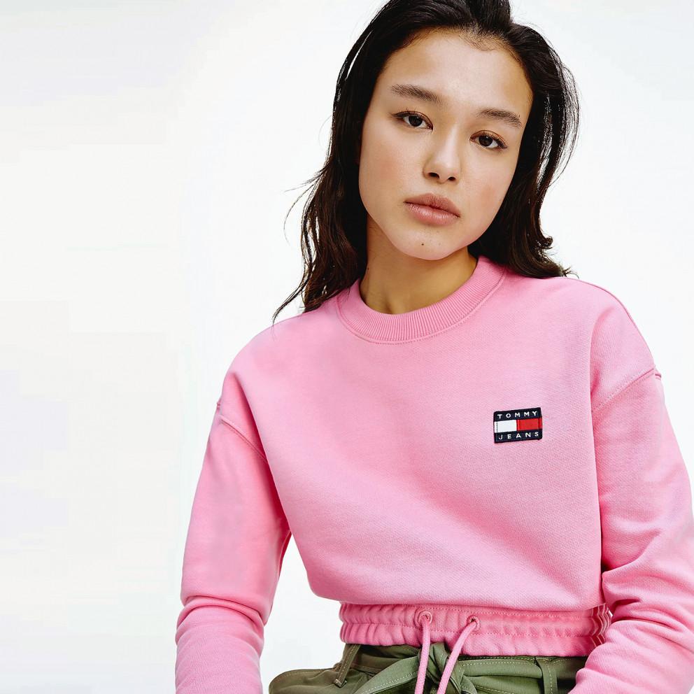 Tommy Jeans Badge Cropped Women's Sweatshirt