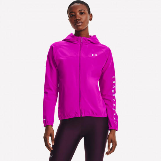 Under Armour Women's Woven Branded Full Zip Hoodie